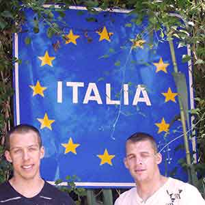 Italy land sign