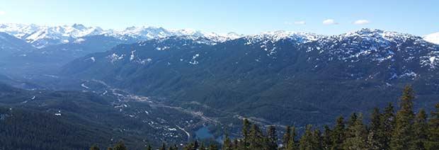 Utsikt över BC från Whistler